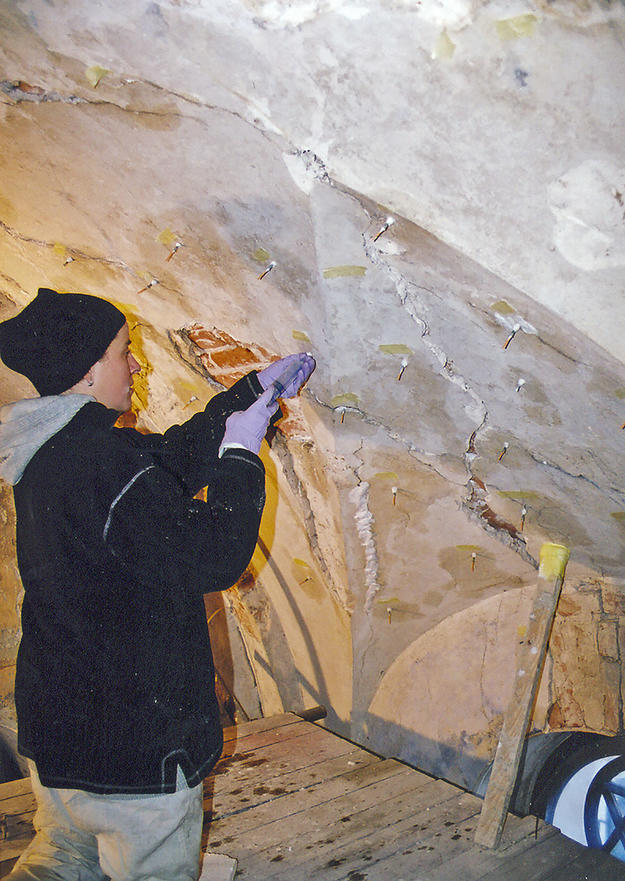 Conservator at work, 2005