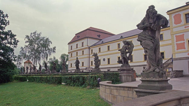 Sculptures on the property grounds, 2000