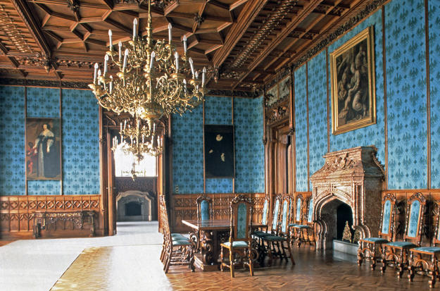 The interior of the Lednice Castle, 1994