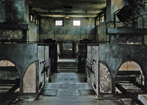 Interior of the crematorium during conservation, 2005