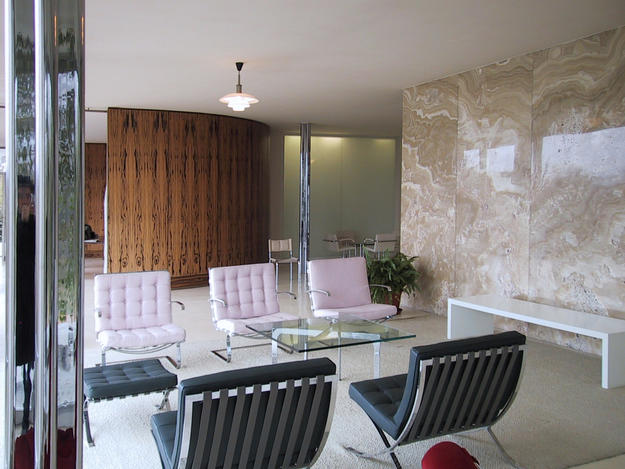 Interior with signature Tugendhat chairs, 2001