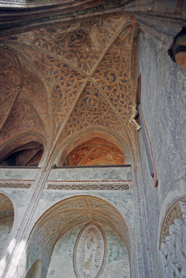 Detail of the east wall and ceiling, 2002