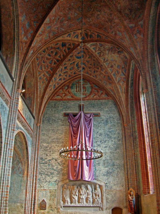 Interior murals, after conservation, 2009