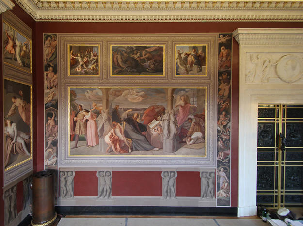 Interior painting, decorated by Bernhard Neher and his pupil, Carl Hutter, after conservation, 2014
