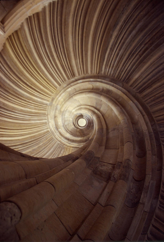 The grand Grosse Wendelstein staircase, after conservation, 2004