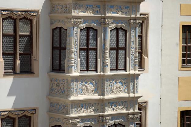 Detail of the Schöner Erker, after conservation, 2011