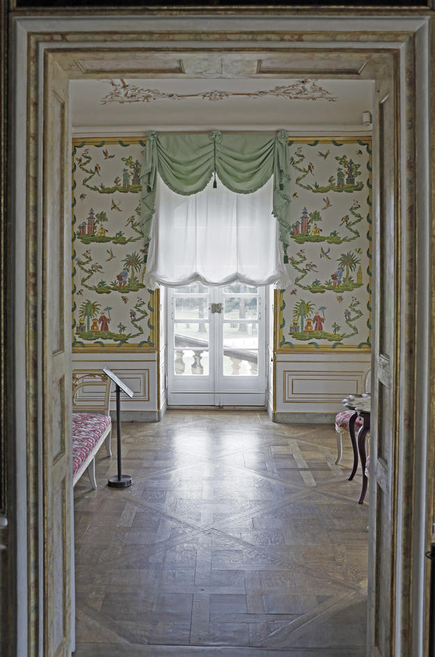 Rococo interior decoration, after conservation, 2013