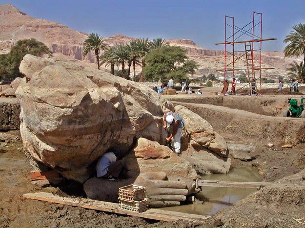 Excavation at the site, 2004