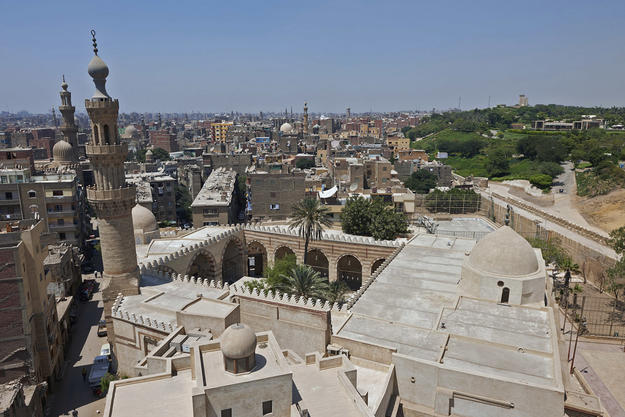 View of Cairo from the top of the mosque, 2013
