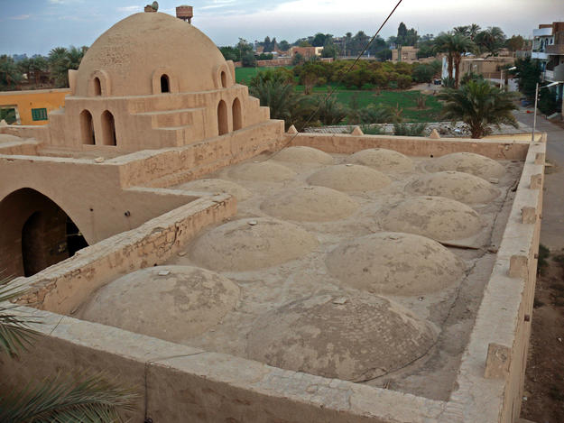 A view of the roof of the mosque from the minaret, 2009