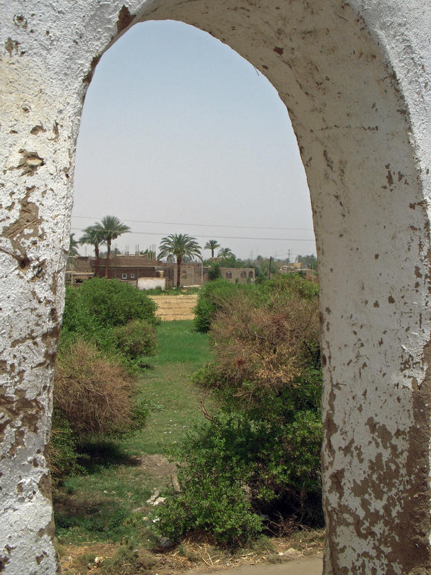 View to the north through an archway, 2010