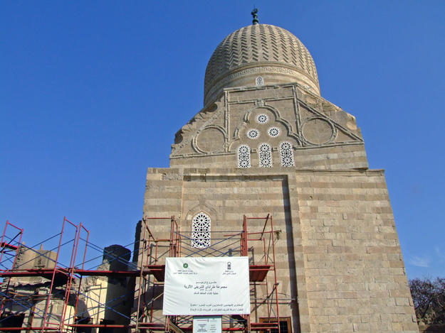 Scaffolding during façade conservation, 2008
