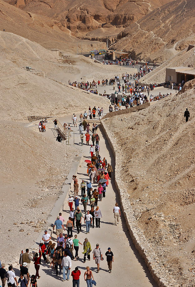 Tourists at site, 2003