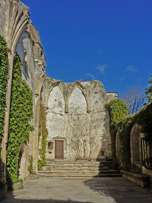 A ruined church now serving as an entrance to the convent, 2011