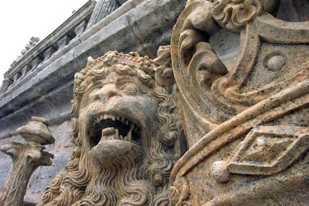 Sculptural detail of the façade, 2011
