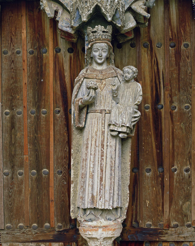 The Virgin and Child before conservation, 1985
