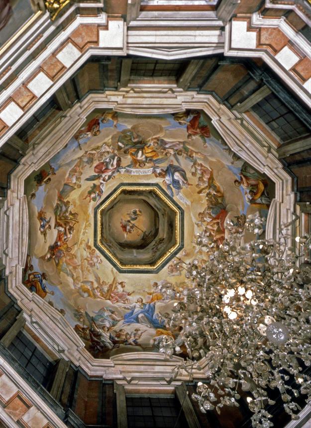 Frescos by Francisco Ricci and Juan Carreño adorn the cupola, 1982