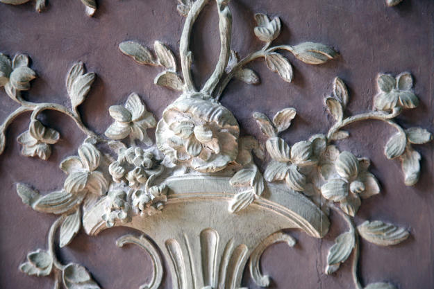 Detail of one of the boiseries after conservation, 2008
