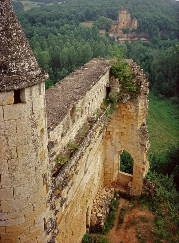 View from the tower of the surrounding countryside, 1992