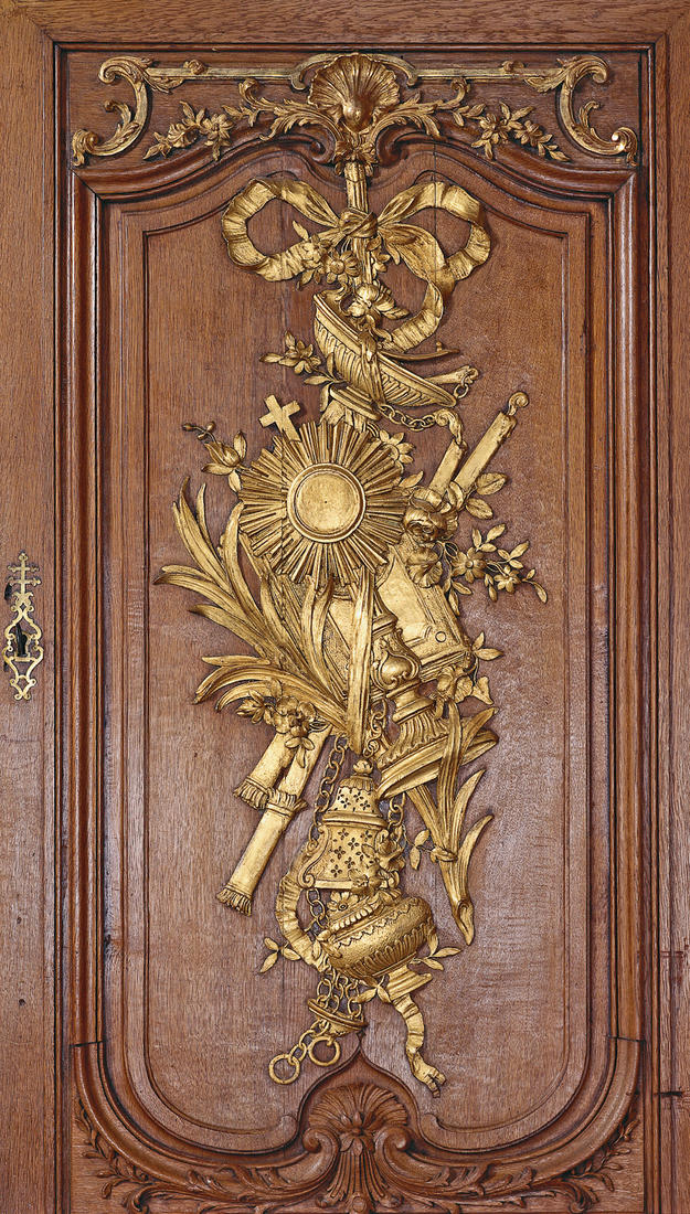 Gilded details of the sacristy , 2003