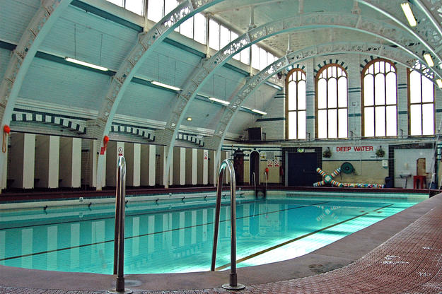 The second class pool at Moseley Road Baths, which remains in use, 2007