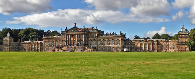 The Palladian east façade of Wentworth Woodhouse, which lays claim to be the longest in the country, 2010