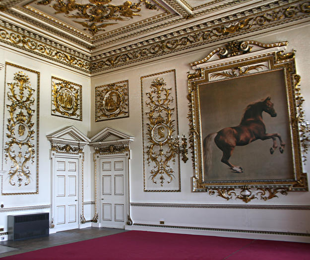 The Whistlejacket Room at Wentworth Woodhouse, named after the famous painting of the Marquess of Rockingham's favorite horse by George Stubbs (1724-1806), 2013