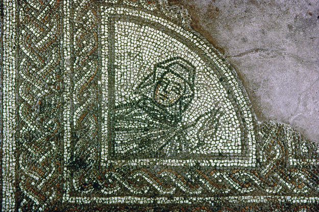 A detail of the winter mosaic, 2001