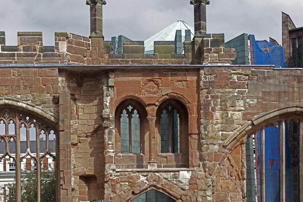 The north wall after conservation , 2014