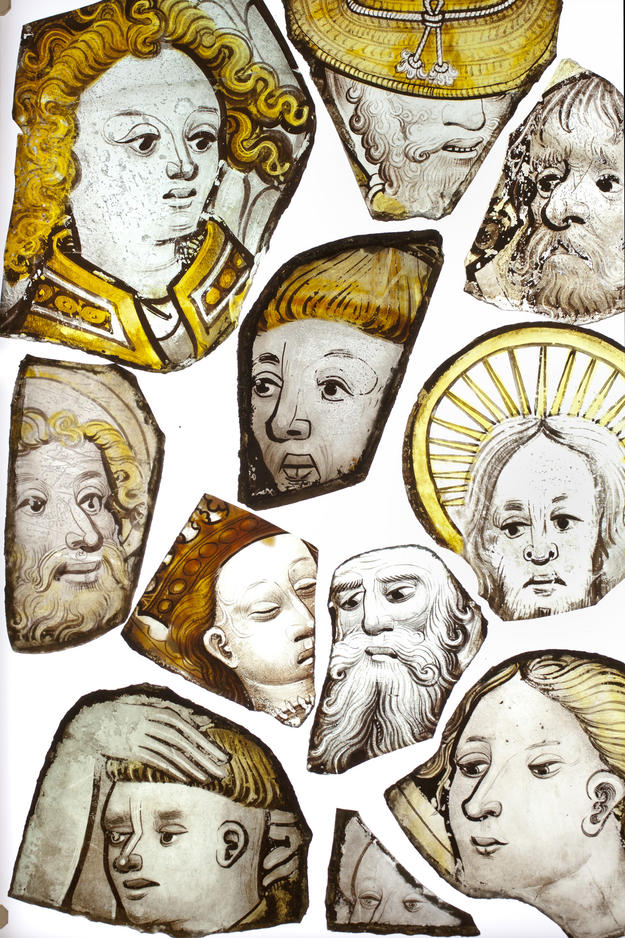 Early fifteenth-century stained glass fragments , 2012