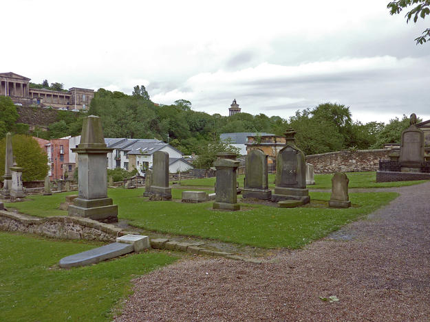 Old Canongate with graves from the late 1680s , 2011