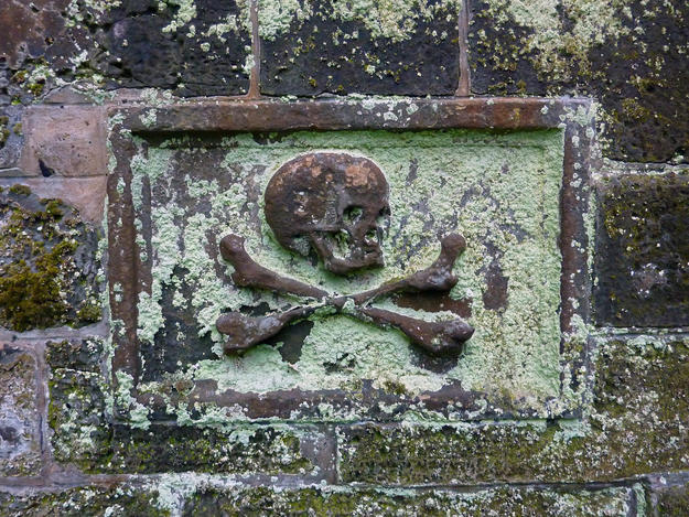 Monument detail from Greyfriars Kirkyard, 2011
