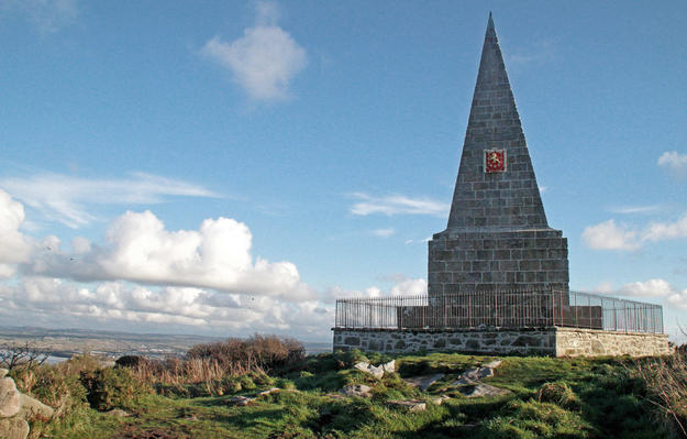 The 50-foot-high granite obelisk , 2013