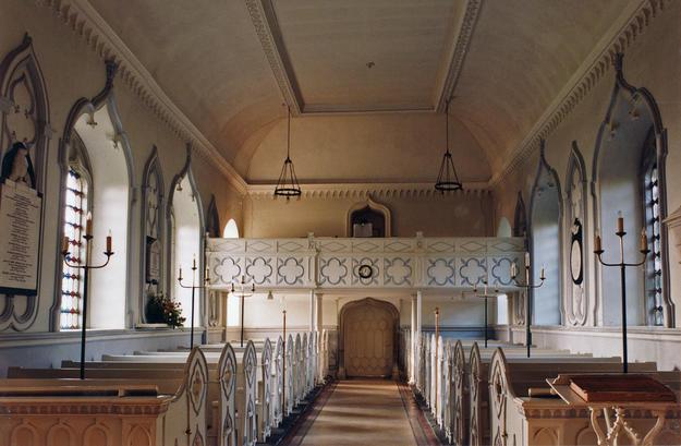 Nave looking west towards organ gallery, 2003