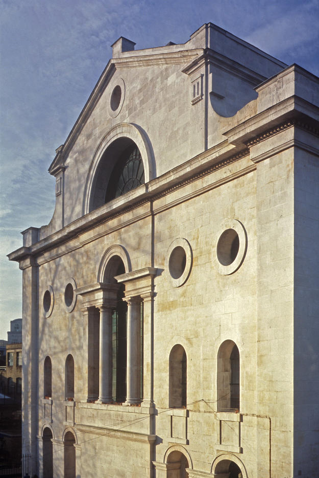 Façade of one of the finest London churches of the eighteenth century , 2002