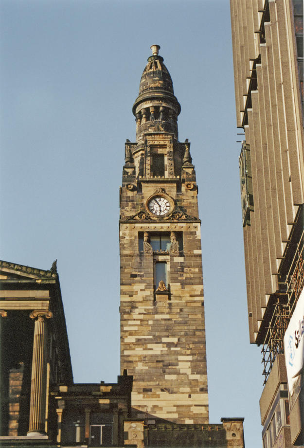The church tower, an enduring feature of Glasgow's skyline, 2003