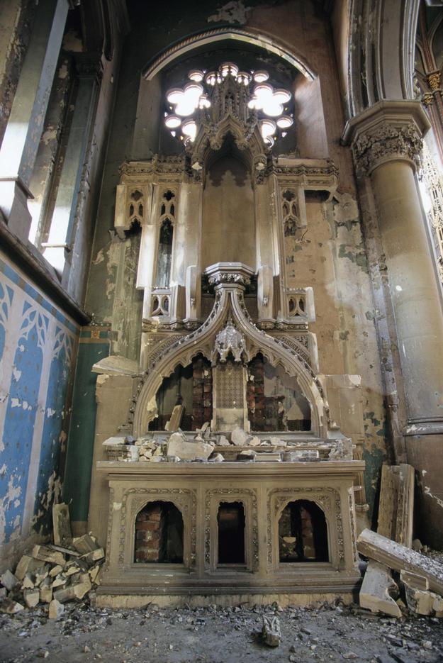 Damaged interior, 1996