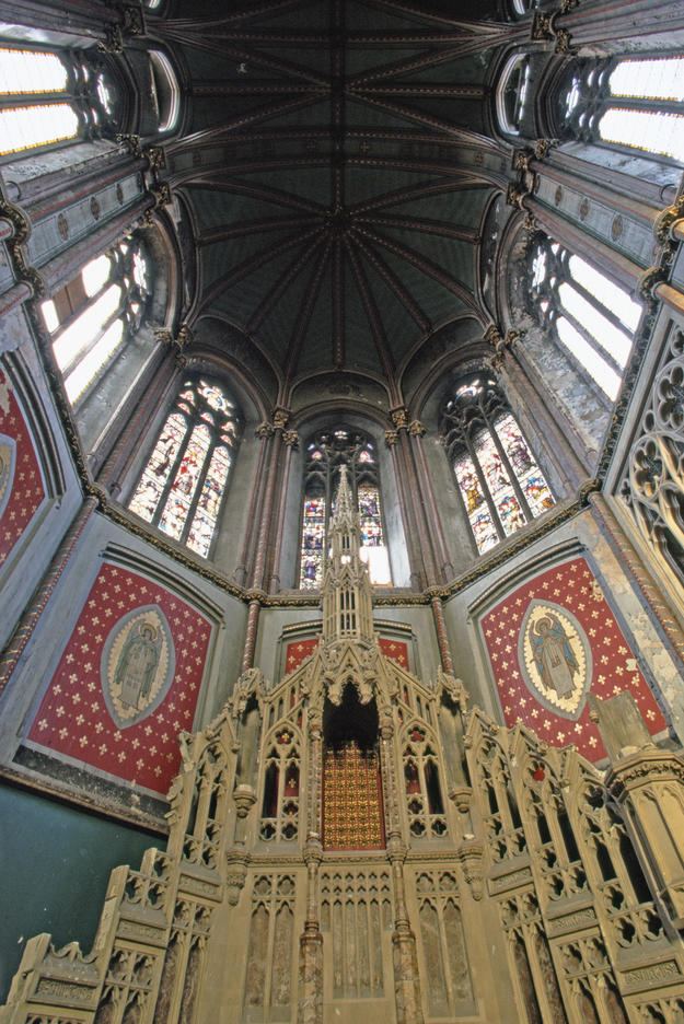 Interior in the Gothic Revival style, 1996