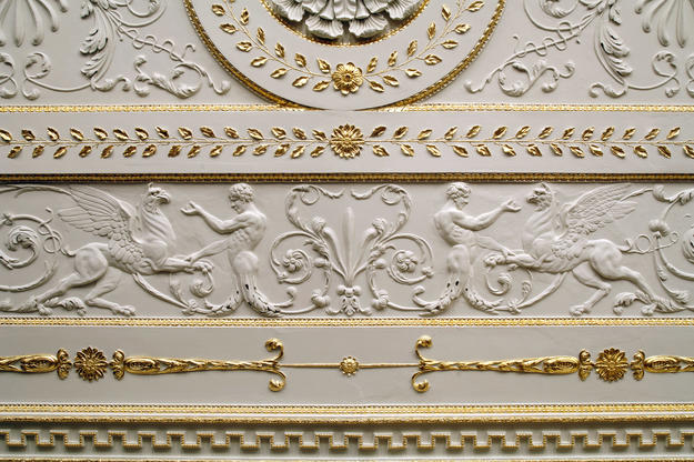 Detail of the library after gilding, 2010