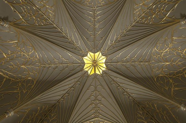 Detail of the Tribune ceiling , 2011