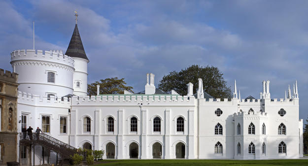 Façade displaying Gothic aesthetics , 2011