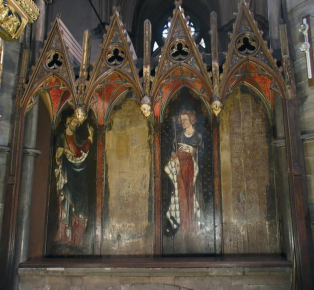 The painted panels of the oak sedilia, 2005