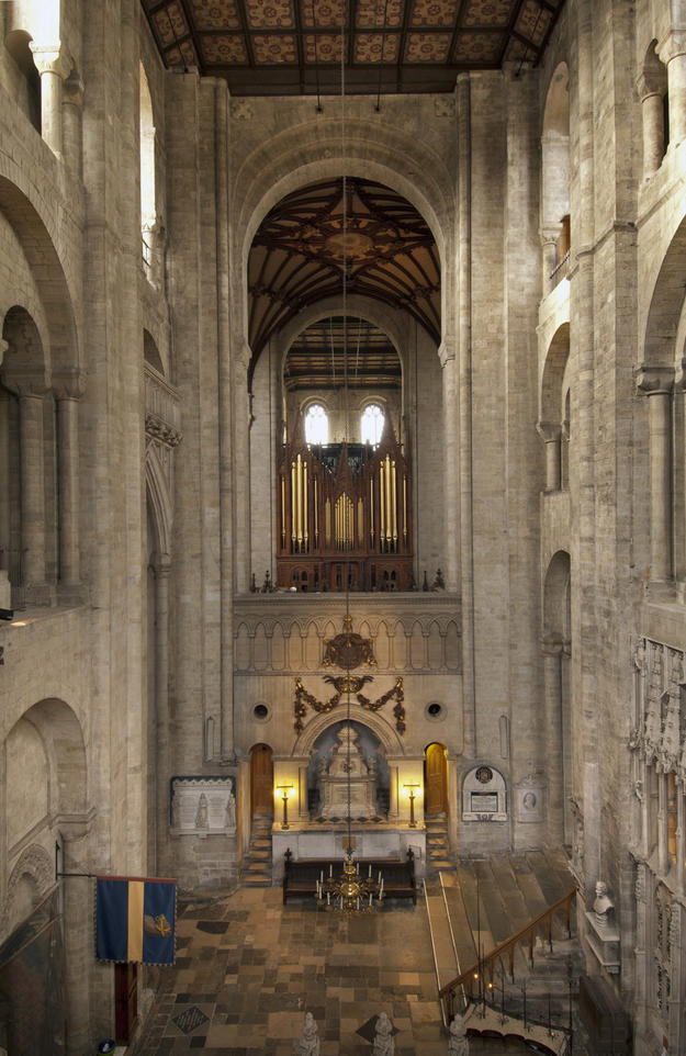 View towards altar in south transept, 2011