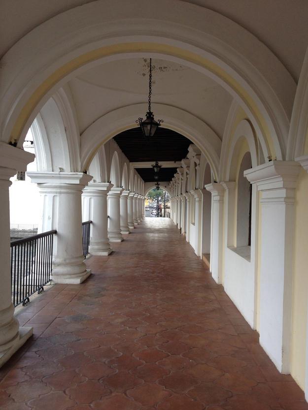 View down corridor, 2013