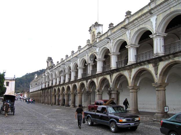 Façade with masonry arcades, 2008