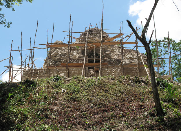 Structure B-18 during conservation, 2010