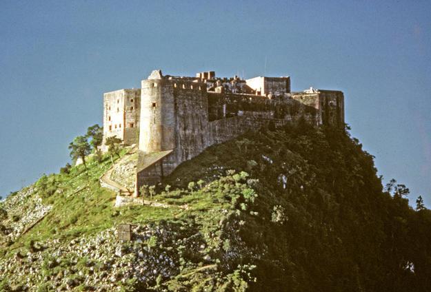 The citadel rests atop Bonnet a L'Eveque mountain, 1987