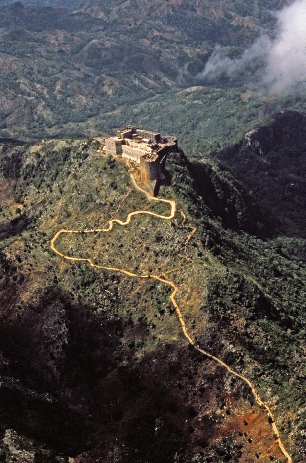 Aerial view of the impressive fortress, 1984