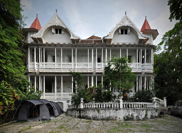 The 1912 Peabody House in Pacot survived the earthquake almost undamaged, 2010