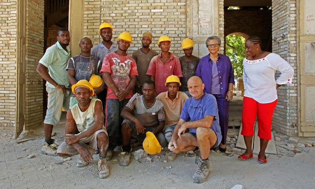 Our conservation team at Maison Dufort, 2014